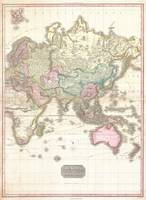 Vintage Map of The Eastern Hemisphere (1818)