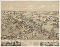 Vintage Pictorial Map of Guilford CT (1881)