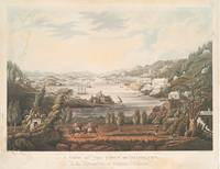 Vintage Pictorial Map of Hamilton Bermuda (1816)
