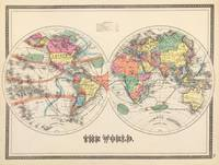 Vintage Map of The World (1873)