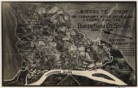 Vintage Map of The Shiloh Battlefield (1917)