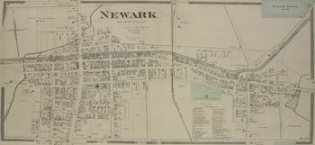 Vintage Map of Newark NY (1874)