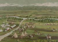 Vintage Pictorial Map of The Denver Settlement (18