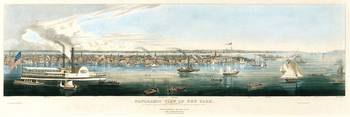 Vintage Panoramic Map of NYC (1844)