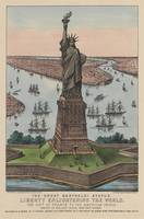 Vintage NYC & Statue of Liberty Illustration (1885