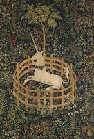 Vintage Fenced in Unicorn Painting (1505)