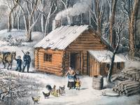 Vintage Home in The Wilderness Painting (1870)
