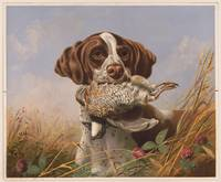 Vintage English Pointer Hunting Quail Painting (18
