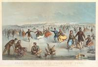 Vintage Central Park Ice Skating Painting (1861)