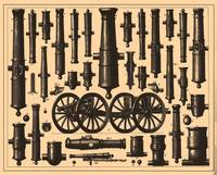 Vintage Cannon & Artillery Diagrams (1907)