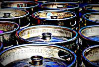 Kegs of Beer in Abstract