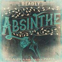 Deadly Absinthe Vintage Label