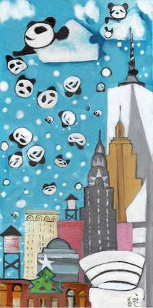 New York Panda Snow Showers