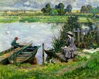 Albert Chevallier Tayler - The Thames at Benson 19