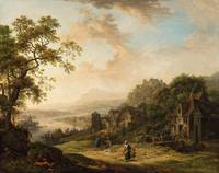 Christian Georg Schütz the Elder, a Castle Rhine L