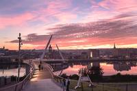 Sunset over Derry