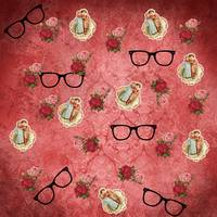 vintage glasses rose