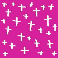 pink white cross