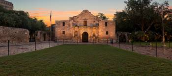 The Alamo at Sunrise Pano