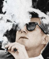 John F. Kennedy Cigar And Sunglasses