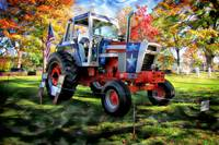 Patriotic Tractor in the Fall