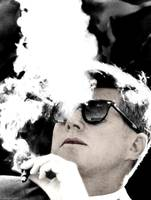 Preseident John F. Kennedy - Smoking his famous Ci