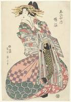 Courtesan from the Ebiya house, Kikugawa Eizan, in
