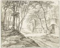 Farm between trees, Cecilia Barbiers (possibly), 1