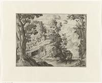 Italian landscape with river, anonymous, c. 1580 -