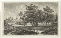 Landscape with farm between the trees, Christiaan