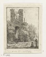 Two figures at ruin, Anthonie van den Bos, 1778 -