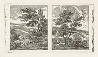 Two landscapes, Jan Matthias Cok, 1735 - 1771