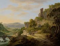 View of Civita Castellana, Daniël Dupré, Daniël Du