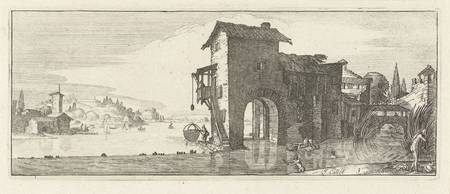 Watermolen, Jacques Callot, 1618 - 1670