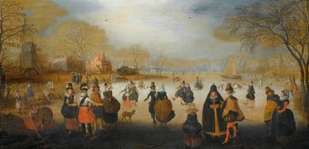 Winter Landscape with Skaters, Adam van Breen, c.