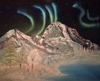 Majestic Mountains Aurora- Northern lights