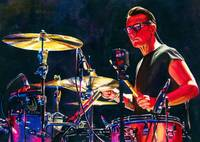 Red Larry Mullen Jr Drumming