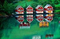 Red Cottages Flam Norway Horf
