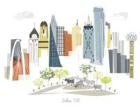 Dallas Modern Cityscape Illustration