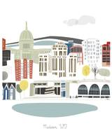 Madison Modern Cityscape Illustration