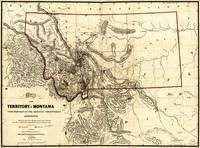 Map of the Territory of Montana (1865)