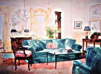 THE DRAWING ROOM - 21 X 29 - WATERCOLOR