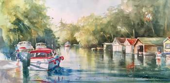 Chaffeys Lock Boathouses - Stephen J Rothwell