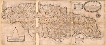 Map of the Island of Jamaica (1684)