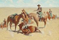 AMONG THE LED HORSES BY FREDERIC REMINGTON