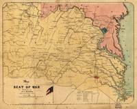 Map of the Seat of War, Virginia & Maryland (1861)