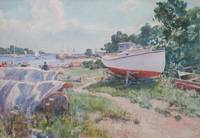 Boatyard, Marion, Massachusetts by Howard Russell