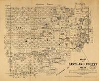 Map of Eastland County, Texas (1879)