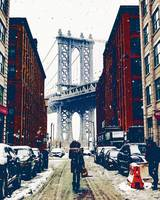Brooklyn New York in Winter, United States