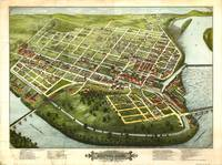 Bird's Eye View of Holyoke, Massachusetts (1877)